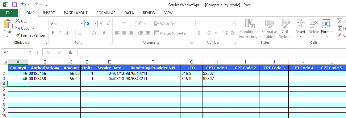 how to go to new paragraph in excel file